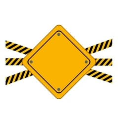 Isolated road sign of under construction design vector