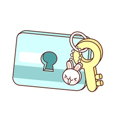 A view of key ring vector