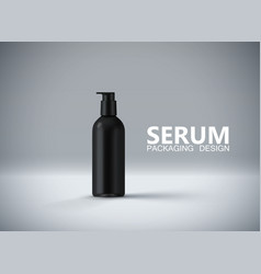 Anti aging serum ads poster template vector