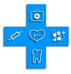 Medicine blue icon vector