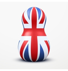 Russian tradition matrioshka dolls in british flag vector