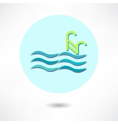 Swim Icon vector image