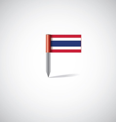 Thailand flag pin vector