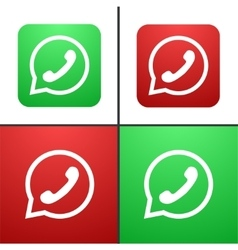 modern phone icon set vector image