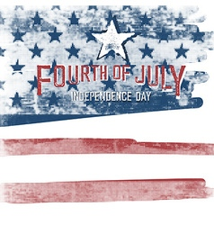 4th of july American Independence day poster vector image