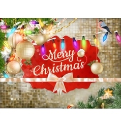 Christmas decoration background eps 10 vector