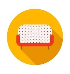 Retro sofa icon flat style vector