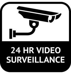 cctv surveillance sign vector image