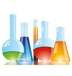 Chemical flasks vector