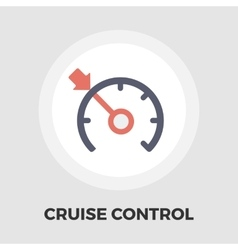 Cruise control flat icon vector image