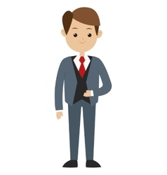 Man formal suit icon vector