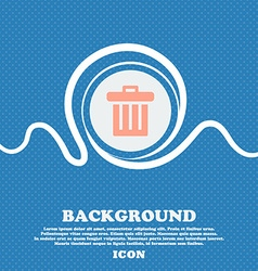 Recycle bin sign icon blue and white abstract vector