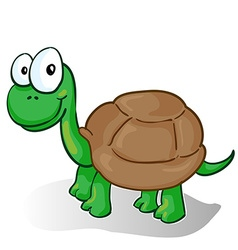 A smiling cartoon turtle vector