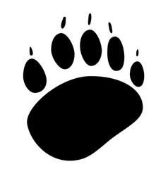 Animals footprint icon vector