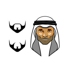 arabian men head white vector image