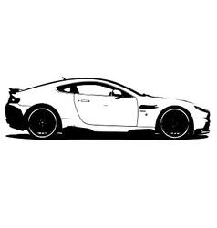 Aston martin V8 vector image