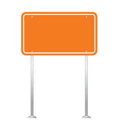blank road sign board isolated on white background vector image vector image