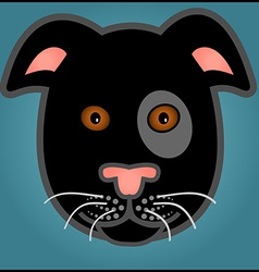 Cartoon black dog vector