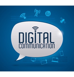 Digital communication design vector image