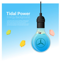 energy concept background with tidal energy vector image vector image