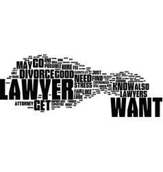 find an attorny text background word cloud concept vector image vector image