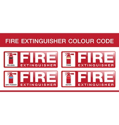 Fire extinguisher colour code vector