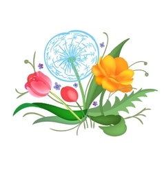 Flower arrangement vector