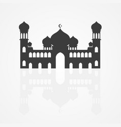 Graphic of a mosque vector