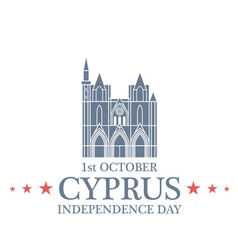 Independence Day Cyprus vector image