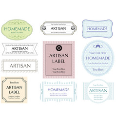 labels set 5 vector image