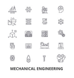 mechanical engineering mechanic electrical vector image