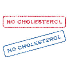 No cholesterol textile stamps vector