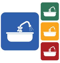 Plumbing work symbol icon vector