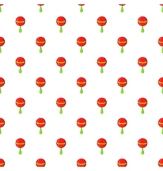 Rattle pattern cartoon style vector