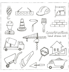 Set of doodle sketch Architecture Construction vector image vector image