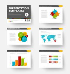 Template for presentation slides 4 vector