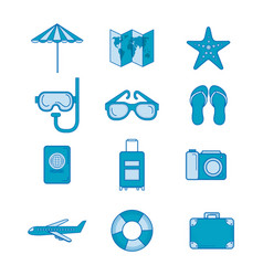 Vacation related objects vector