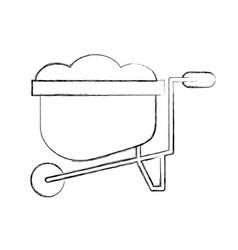 Wheelbarrow farm isolated icon vector