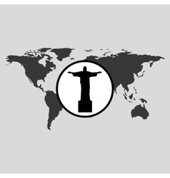 Traveling world brazil monument design graphic vector