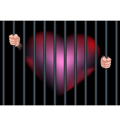 Imprison heart feel in love vector
