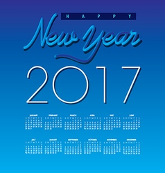 2017 creative happy new year calendar vector