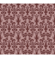 Maroon oval pattern vector