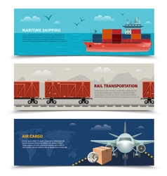 Transportation horizontal banners vector