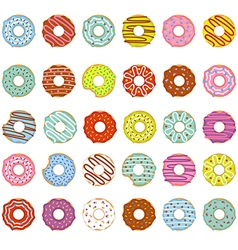 Set of isolated donuts vector