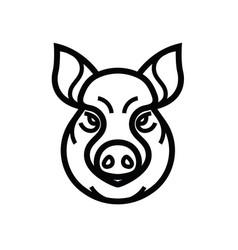 Image of swine or pig head vector