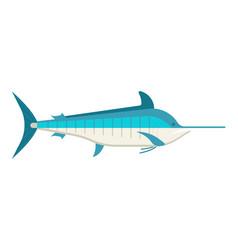 cartoon swordfish or marlin icon vector image