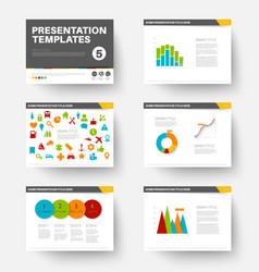 template for presentation slides 5 vector image