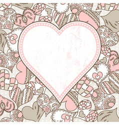 Background with valentines hearts vector