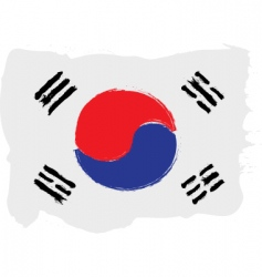 Korea grunge flag vector