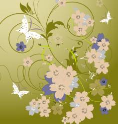 floral abstraction vector image